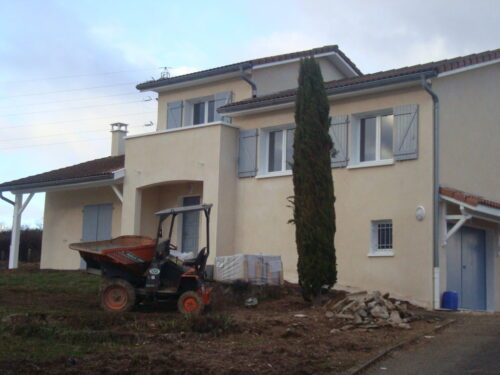 Rénovation de façade - Marcy l'Étoile